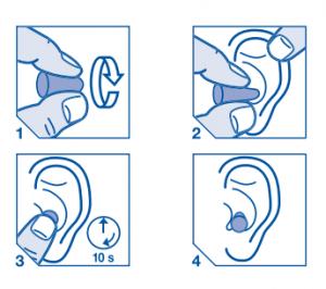 3M Earplugs Fitting Instructions